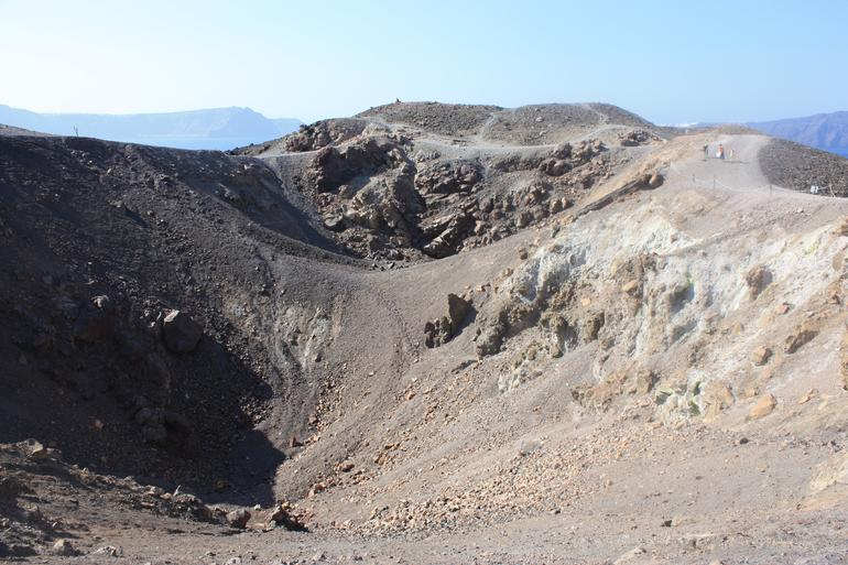Volcanic crater on Nea Kameni - Greece