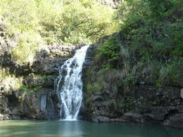 This is the waterfall you get to swim at , Morgan P - November 2013