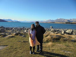 Photo of Queenstown Queenstown to Christchurch via Mount Cook Full-Day Tour Brilliant view of Lake Tekapo at the church of the good shepherd.