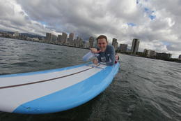 Photo of Oahu Oahu Surf Lessons: Class and Equipment at Ala Moana Beach with Round-Trip Transport Chillin'