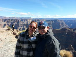 Shannon and Monica Grand Canyon west rim 2/4/14 , Monica F - February 2014