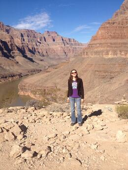 Amazing tour over the Grand Canyon landing inside!, sarahm - March 2014