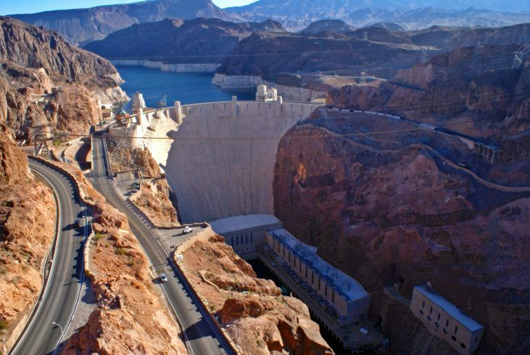 Hoover Dam: Taken from the bridge.