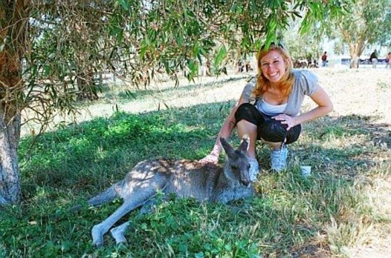 Me and one of the kangaroos, Phillip Island - Melbourne