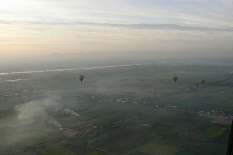 Morning arrives over the Nile Valley - Luxor