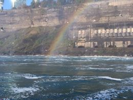 While on the Maid of the Mist, it was fun to look over and see this rainbow in the mist! , Cynthia F - October 2015