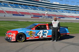 Photo of Las Vegas Las Vegas Race Car Driving - Richard Petty Rookie Experience Randy Couture at the Las Vegas Motor Speedway