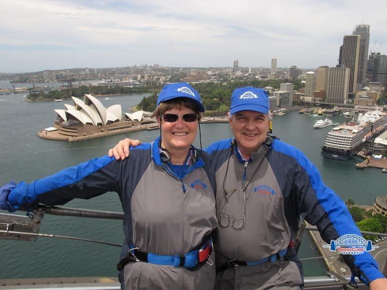 Rod  and  Rosemary taking in the breathtaking scenery from the Bridge - Sydney
