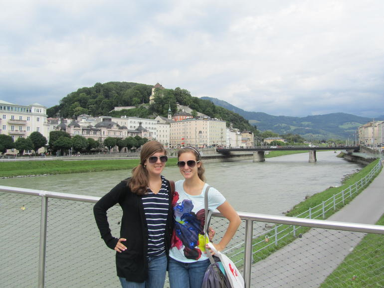 crossing over into the city of Salzburg