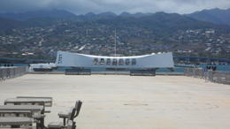 Arizona Memorial from BIG MO , fred d h - August 2012
