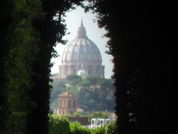 Looking through the Turkey Embassy and Rome to the Vatican City, Danina S - August 2009