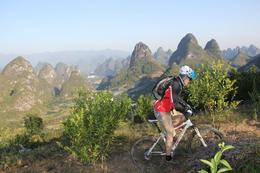 The beautiful karst mountains behind again - October 2012