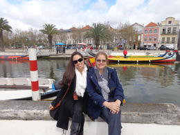 About to board the moliceiro to cruise the beautiful canals of Aveiro , Claudia A - April 2014