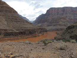 Photo of Las Vegas Grand Canyon Helicopter Tour from Las Vegas Down in Canyon for picnic