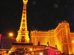 The mock Eiffel tower at the Paris hotel on the Las Vegas Strip , Leah - May 2011