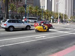 One of those fun Go Cars on the Embarcadero near Market Street, John C - October 2010