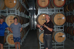 Photo of   In the barrel room at Langmeil Winery