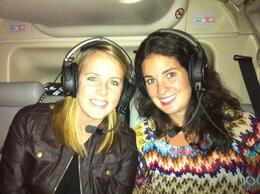 Excited for our first helicopter flight!, Marky M - November 2012
