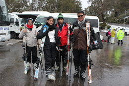 My husband, kids and myself, ready for skiing lessons , Devi S - October 2015