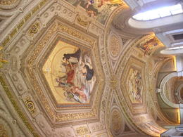 Ceiling paintings in the Vatican Museum , Christine L - May 2012
