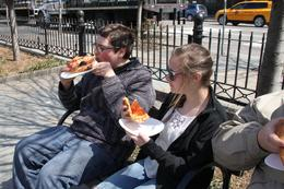 Photo of New York City Pizza Walking Tour of Manhattan Pizza in the park from Joe's...best pizza by the slice