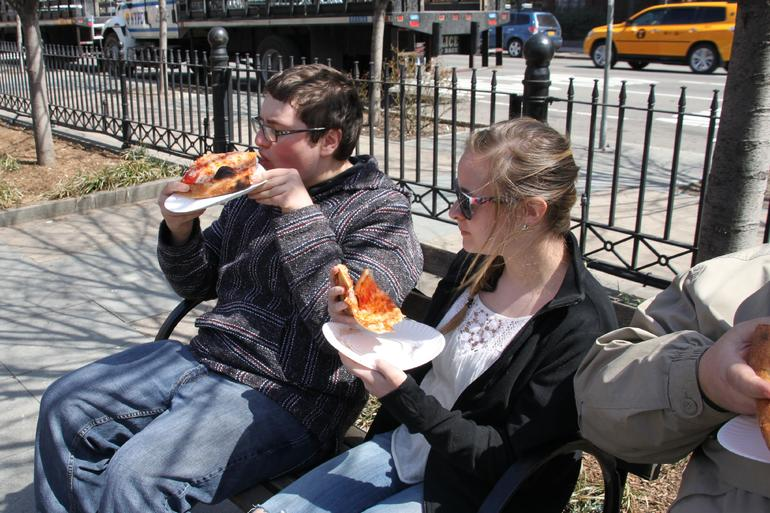 Pizza in the park from Joe's...best pizza by the slice - New York City