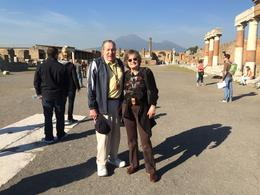 My husband and I were touring Pompeii. The weather was perfect and there were no crowds! We were fortunate. , Joan W - December 2014