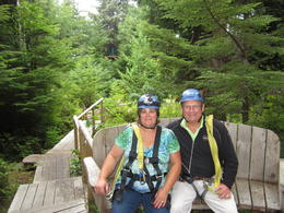 Here we are resting after a long zip line. , John P - August 2013