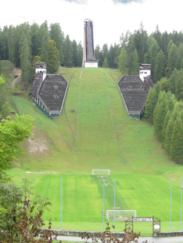 Ski jumping hill of the Wnter Olympics d `Ampezzo 1956 - Venice
