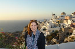 The most picturesque spot Santorini island , Joyce - January 2014