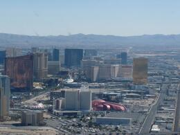 A view of the Las Vegas strip from the air. - May 2009