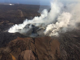 Photo of Big Island of Hawaii Big Island Adventure Combo: Helicopter, Zipline and Lava Tour Vent from Kilauea Volcano