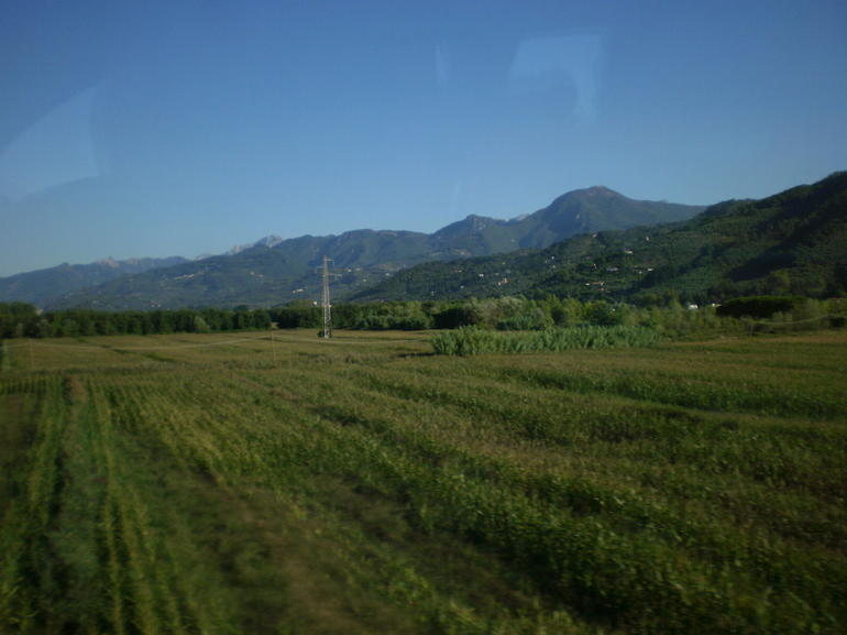 View of Tuscany from the bus - Florence