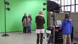 Special effects demonstration on a green screen. - January 2012