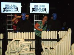 Sue & I with Blue Man Group - October 2009