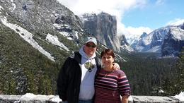 My husband and I at one of the first stops. Gorgeous view. , Dawn C - April 2014