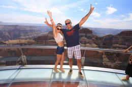 Gabriela and I on the skywalk , Marco P - August 2014