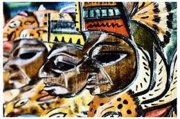 The Masks... Handicrafts by the Natives at 'Oct Fest' , Fatedad E - October 2012
