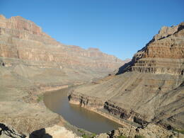 Photo of Las Vegas Grand Canyon All American Helicopter Tour Colorada river in the Grand Canyon