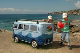 Photo of   Cool mini VW bus with tiled finish