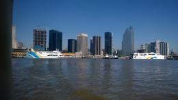 Leaving Puerto Madero for our trip to Tiger Delta , Gerald and Mary - October 2014