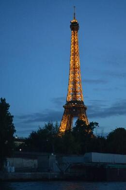 The boat returned at dusk, just in time to see the Eiffel Tower light up. It was gorgeous! , Crystal C - September 2012