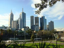 Waterfront view of Federation Square along the Yarra River , Leah - May 2011