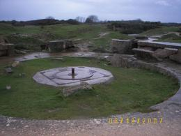 German cannon bunker. These were supposed to stop our ships. However on D-Day, the cannons had been removed and replaced with wooden mock ups while the bunkers were being reinforced., Fabian B - January 2008
