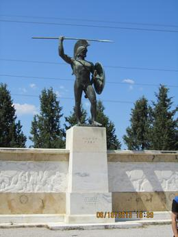 Monument to King Leonidas at Thermopylae , Victor A - July 2013