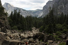 Eating lunch at Yosemite falls, this was our view , Mikael M - August 2013