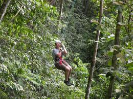 Ziplining: you just smoothly soar through the trees and try to capture and store every moment in your memory - June 2010