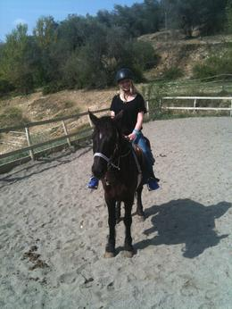 Photo of Florence Horse Riding in Chianti Day Trip from Florence THE WIFE MAKING IT LOOK EASY!!!