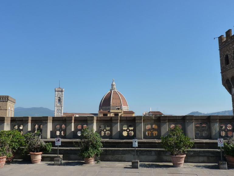 view from caffeteria in Uffizi - Florence