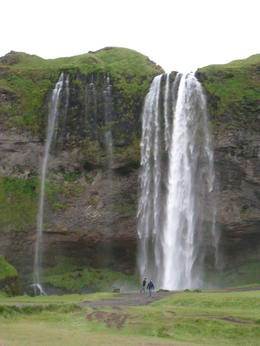 waterfall on the drive back from Jokulsarlon , Corey - August 2012
